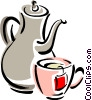 teapot and cup Vector Clip Art picture