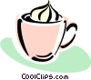Vector Clipart graphic  of a mocha coffee with cream