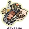 meatloaf in pan Vector Clip Art picture