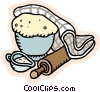 rising bread dough Vector Clipart illustration
