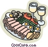Vector Clipart illustration  of an appetizer platter