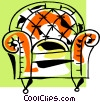 Vector Clip Art graphic  of an armchair