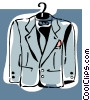 coat on hanger Vector Clipart illustration