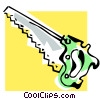 Vector Clipart image  of a saw