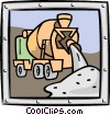 cement mixer Vector Clipart illustration