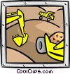 Vector Clip Art image  of a construction