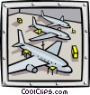 airplane bay Vector Clipart illustration