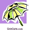 Vector Clipart graphic  of a umbrella