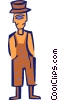 Vector Clip Art picture  of a cartoon man