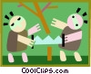 forestation Vector Clip Art picture