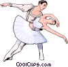 Vector Clip Art graphic  of a ballet