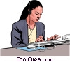 businesswoman Vector Clip Art picture