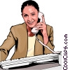 Businesswoman on phone Vector Clipart picture