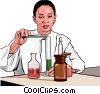 Vector Clip Art graphic  of a chemist