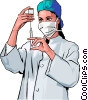 Vector Clipart picture  of a Medical professional