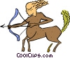 Vector Clipart graphic  of a Sagittarius