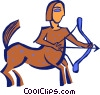 Vector Clipart picture  of a Sagittarius