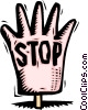 hand saying STOP Vector Clip Art image