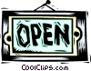 Vector Clipart graphic  of a Open sign
