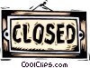 Closed sign Vector Clipart illustration