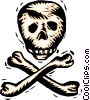 Vector Clipart illustration  of a skull and crossbones