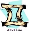 Vector Clip Art graphic  of a symbol