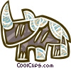 Vector Clip Art graphic  of a modern animal symbol