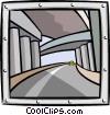 Vector Clipart graphic  of a freeways