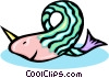 aquatic animal design Vector Clipart picture