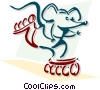 roller blading mouse concept Vector Clipart image