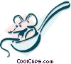mouse in a spoon concept Vector Clipart image