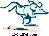 Vector Clipart picture  of a mouse running concept