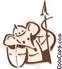 Vector Clip Art picture  of a mouse pawn concept - chess