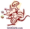 Vector Clip Art graphic  of a circus mouse clown concept