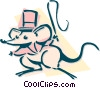 Vector Clipart image  of a circus mouse ring leader
