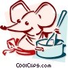 mouse cooking concept Vector Clipart picture
