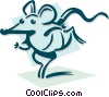 mouse running concept Vector Clipart illustration