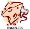 Vector Clip Art graphic  of a mouse with cheese concept