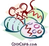 mouse with eggs concept Vector Clipart picture