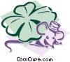 mouse with a shamrock concept Vector Clipart illustration