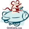 mouse with a blimp concept Vector Clipart image