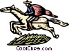 Vector Clipart graphic  of a Man on horseback