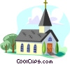 Traditional Church Vector Clipart image