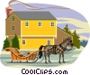 Vector Clipart picture  of a winter scene