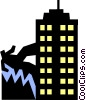 Vector Clip Art graphic  of a office worker climbing
