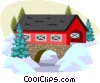 winter scene Vector Clipart picture