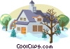 Vector Clipart graphic  of a winter scene