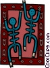 Vector Clipart graphic  of a folk art