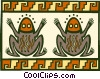 Vector Clip Art image  of a folk art