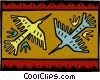 Vector Clip Art graphic  of a folk art